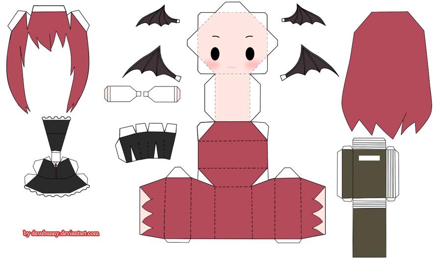 "Touhou Papercraft - Chơi figure kiểu ""con nhà nghèo"" Com__touhou_koakuma_papercraft_by_desubunny-d4g84j4"