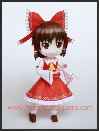 "Touhou Papercraft - Chơi figure kiểu ""con nhà nghèo"" Hakurei-reimu-papercraft"
