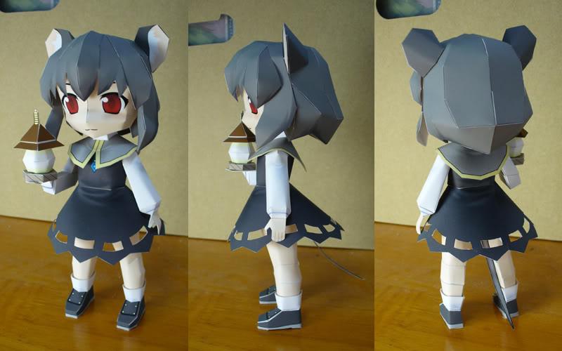 """Touhou Papercraft - Chơi figure kiểu """"con nhà nghèo"""" Nazrin77"""