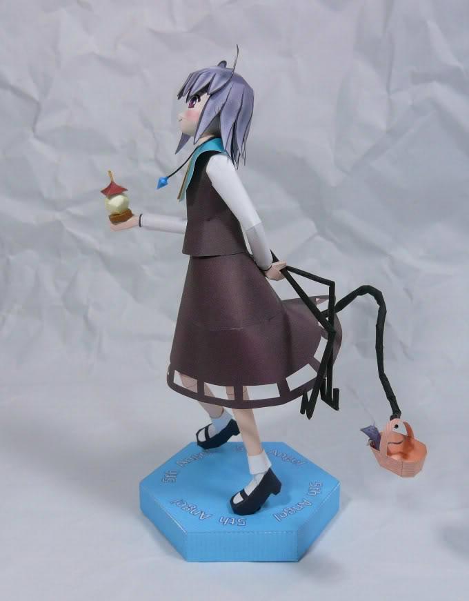 "Touhou Papercraft - Chơi figure kiểu ""con nhà nghèo"" Nazu02"