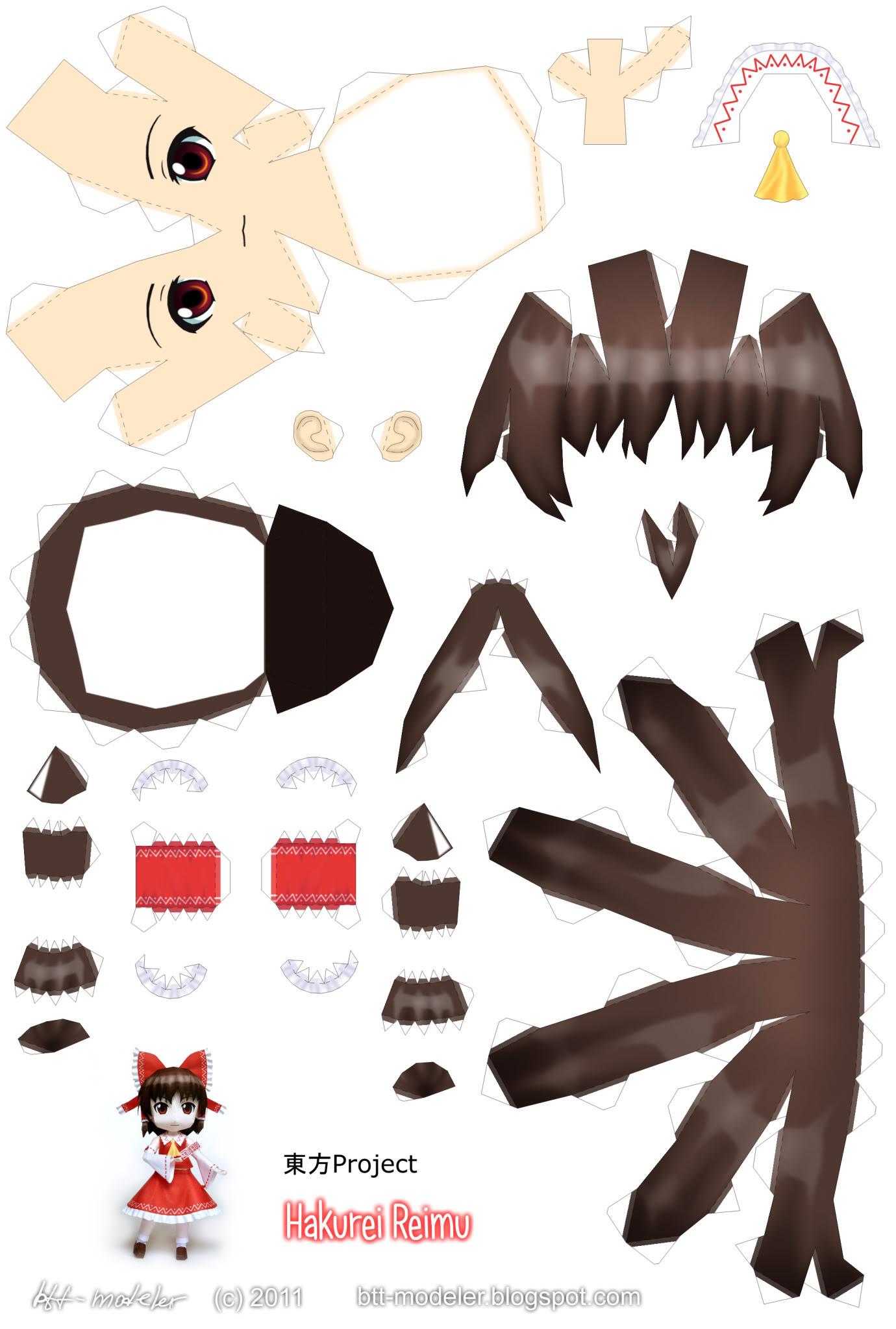"Touhou Papercraft - Chơi figure kiểu ""con nhà nghèo"" Reimu_01"