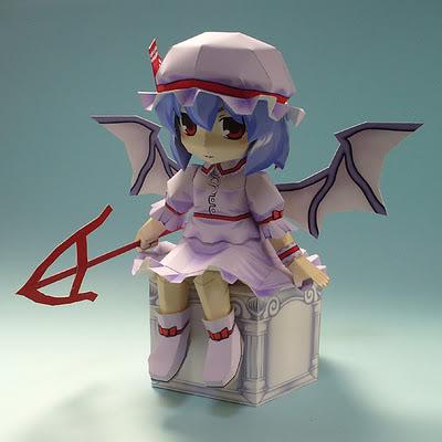 """Touhou Papercraft - Chơi figure kiểu """"con nhà nghèo"""" Remi26flan2002"""