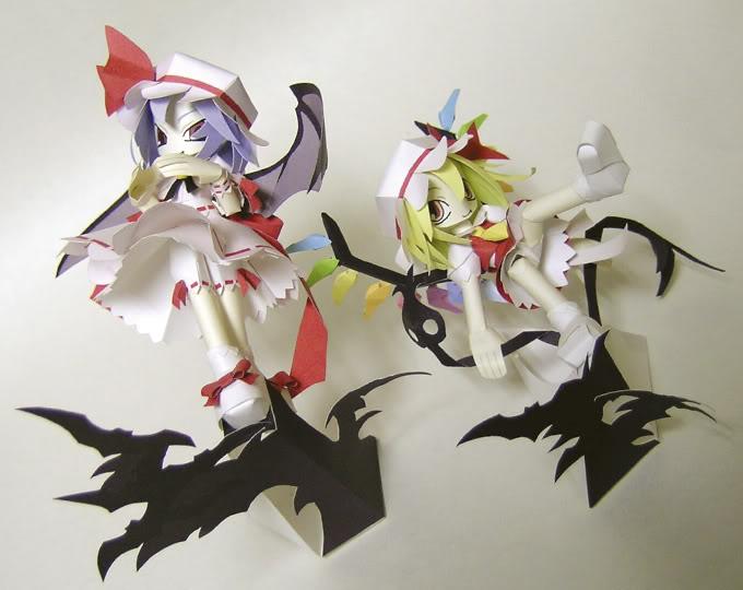 """Touhou Papercraft - Chơi figure kiểu """"con nhà nghèo"""" Rf01"""