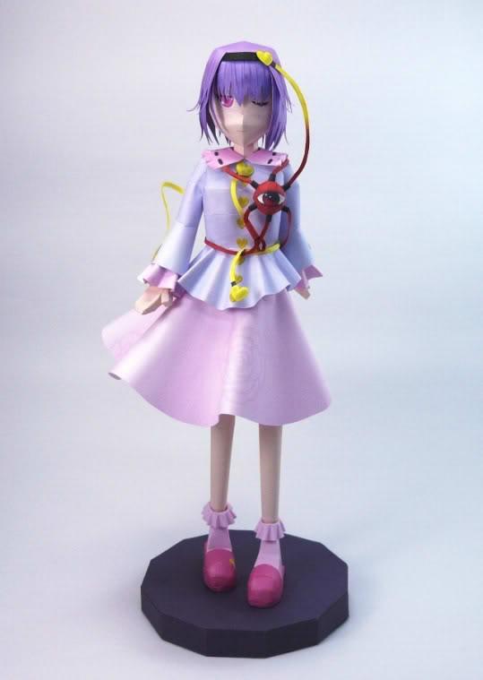"Touhou Papercraft - Chơi figure kiểu ""con nhà nghèo"" Satori01"