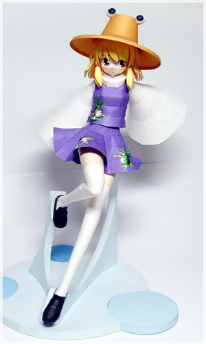 "Touhou Papercraft - Chơi figure kiểu ""con nhà nghèo"" Suwako-anime-papercraft-1"