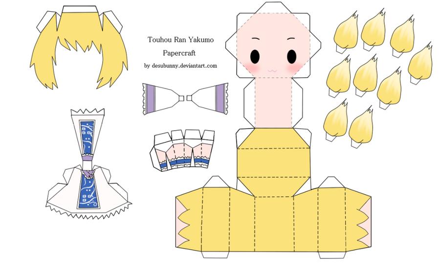"Touhou Papercraft - Chơi figure kiểu ""con nhà nghèo"" Touhou_ran_yakumo_papercraft_by_desubunny-d47brcq"
