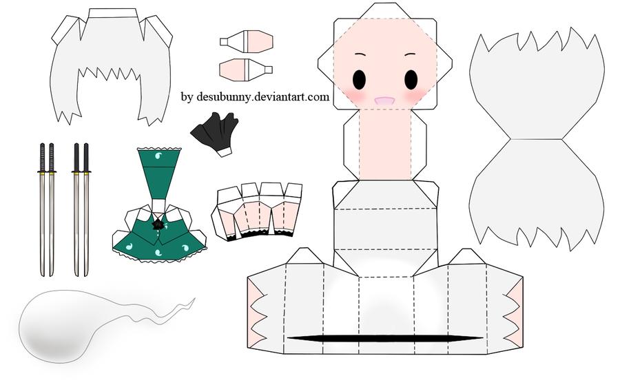 """Touhou Papercraft - Chơi figure kiểu """"con nhà nghèo"""" Touhou_youmu_papercraft_by_desubunny-d4gcz5e"""