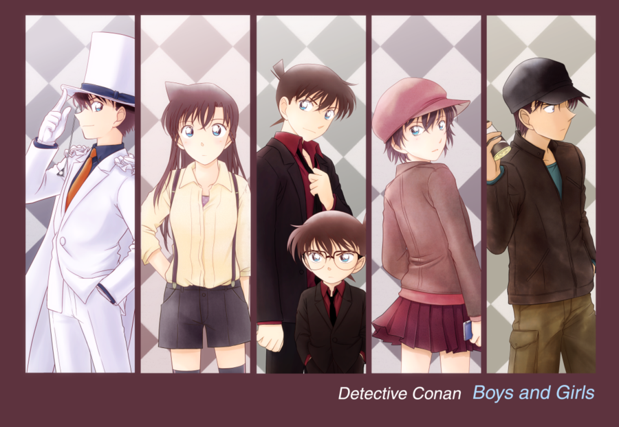 [Fanart] Detective Conan + Magic Kaitou *ST* \(@ ̄∇ ̄@)/ Boys_and_girls_by