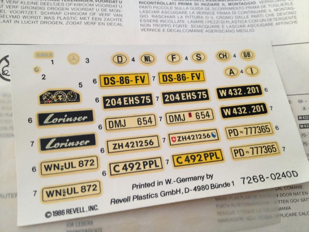 Revell : Mercedes-Benz E230 Lorinser (W124) 3569D58D-E53D-435C-A379-E5615BA33AC6-951-0000002667134938