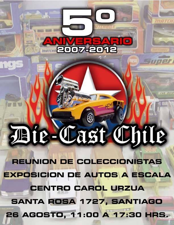 Reunión Die-Cast Chile, 5° aniversario Afiche5aniversario2