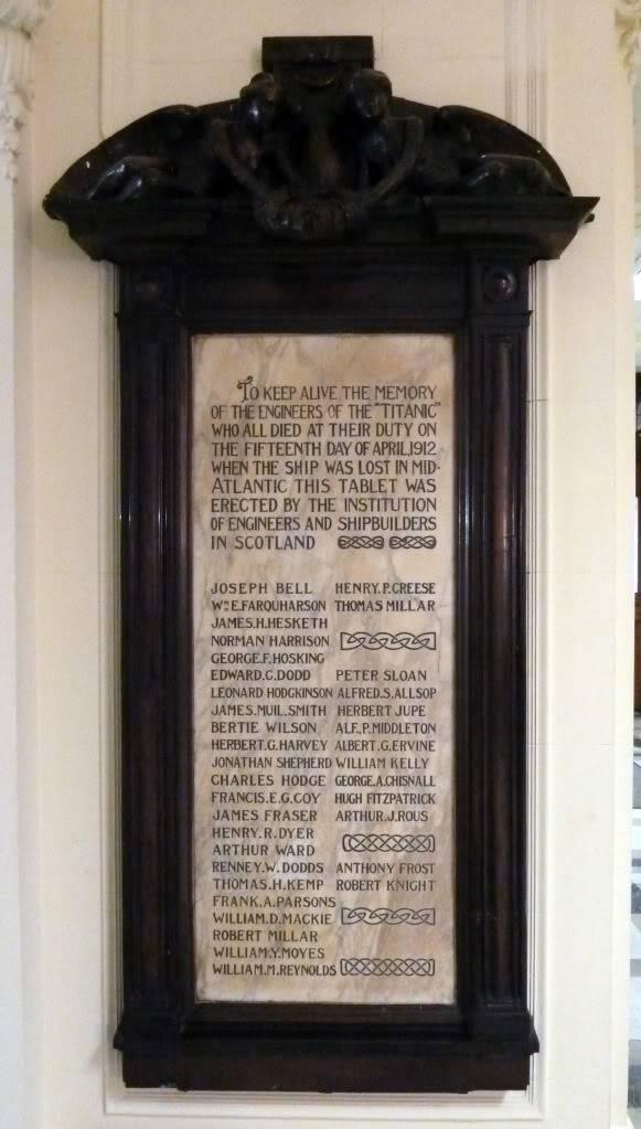 Mémorial des mécaniciens du Titanic [Glasgow] TitanicMemorial