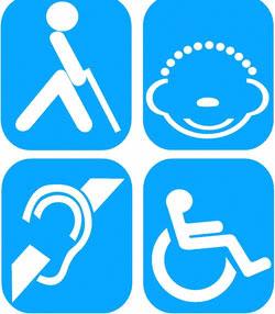 Logotipos de Discapacidad a tus ordenes Discapacitados
