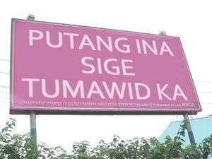 Ano kaya ang iisipin mo kapag nakita mo ang signboard na ito habang tumatawid ka sa E MMDA
