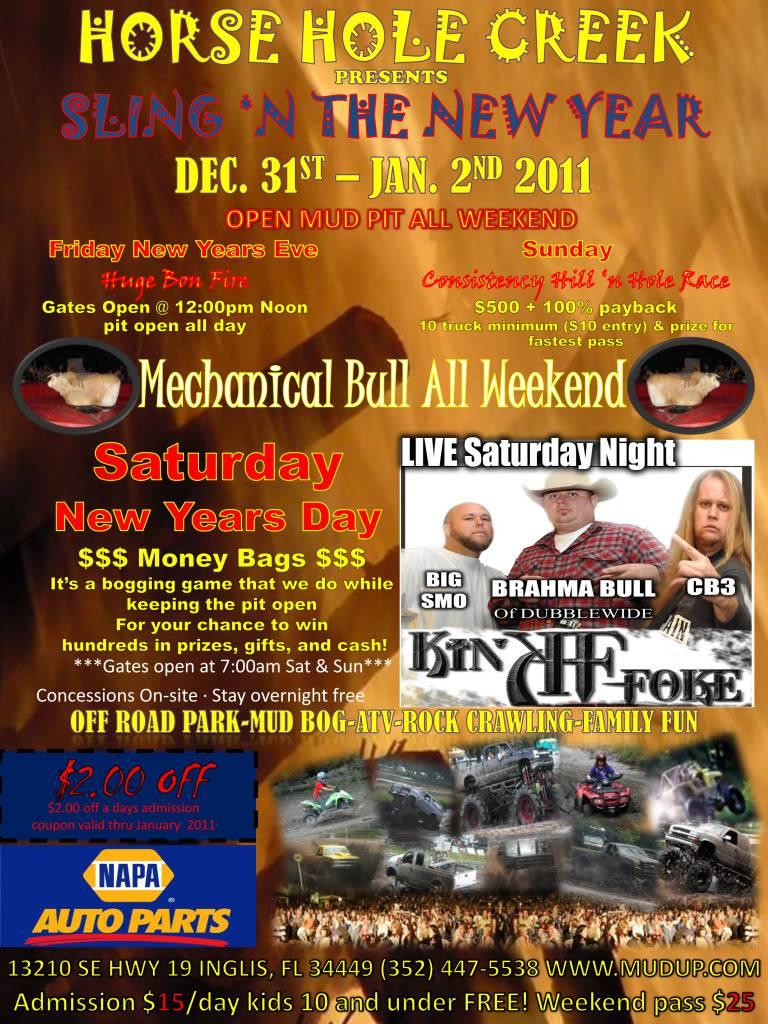 Dec 31-Jan 2 Sling 'n the New Year @ Horse Hole Creek NEW_NewYearsDayFlyer