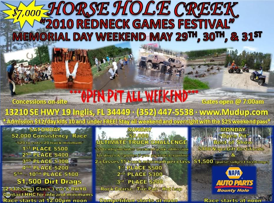 Memorial Day Weekend Redneck Games Fest. & ULTIMATE TRUCK CHALLENGE Memorialdaypaint