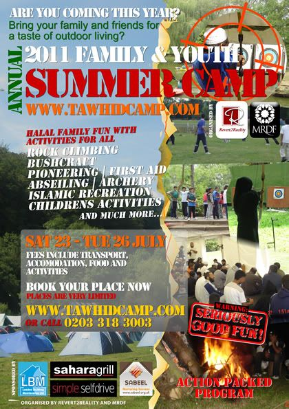 23rd-26th July 2011- Wales - UK : Tawhid Annual Family and Youth Summer Camp 2011flyerlowtawhidcamp