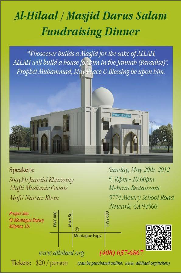 20th May 2012- Newark - California : Fundraising event Masjid Darussalam Fundraiser