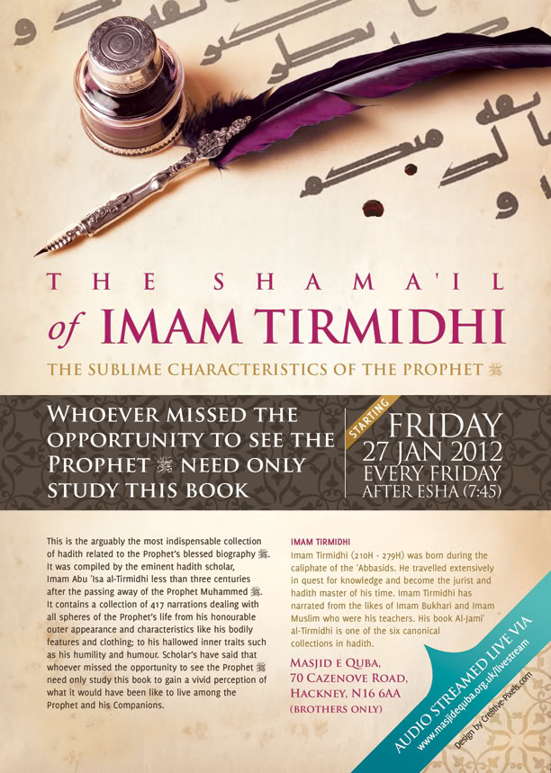 20th January 2012: Stoke Newington - London : Shama'il of Imam at Thirmidhi ImamTirmidhi