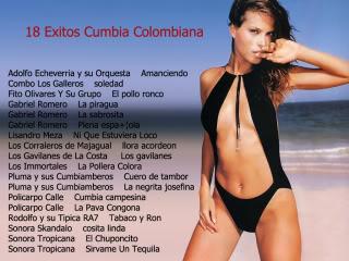 18 Exitos Mp3 ¨¨Cumbias Colombianas¨¨ 18ExitosenCumbiaColombiana