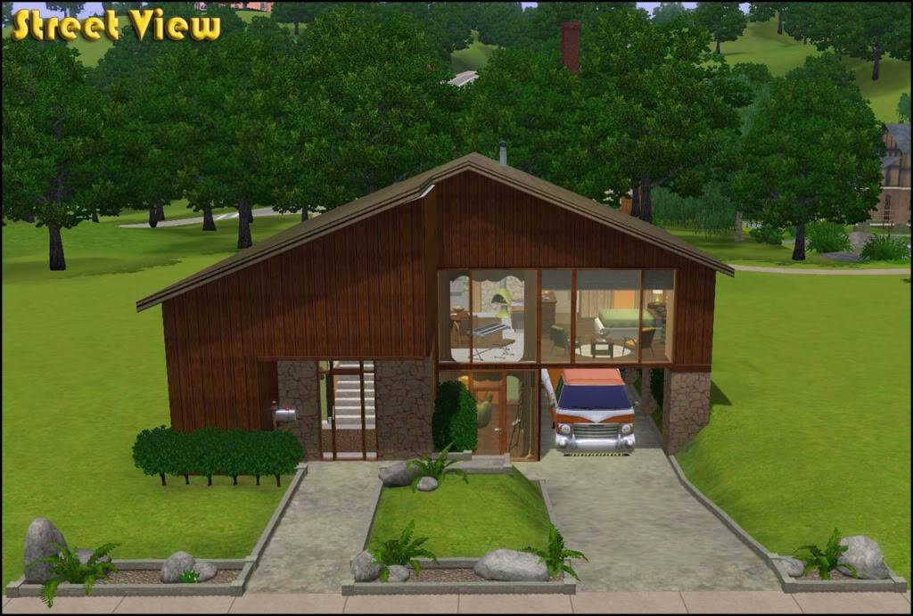 Retro Realty - '70s Modern Family Home by missroxor 2_Exterior_Front