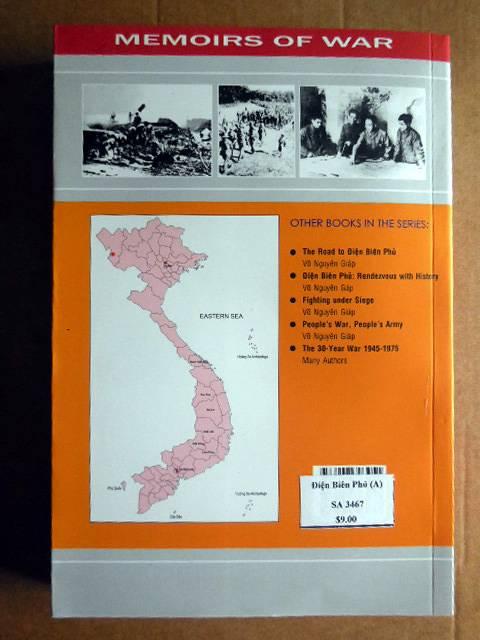 Vends livre sur Dien Bien Phu par le général Giap. En anglais. DienBienPhuparGiapverso