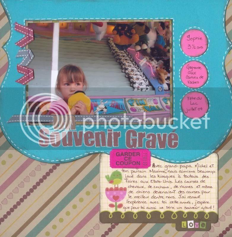 Juillet 2009 Un souvenir gravé Souvenirs
