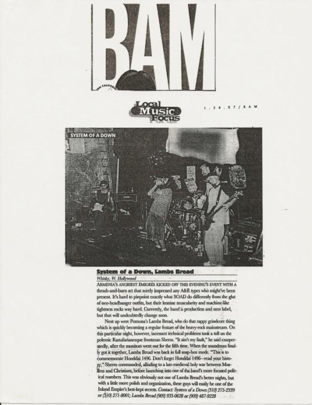 Интервью с первым ударником System Of A Down Andy Khachaturian SOAD_BAM