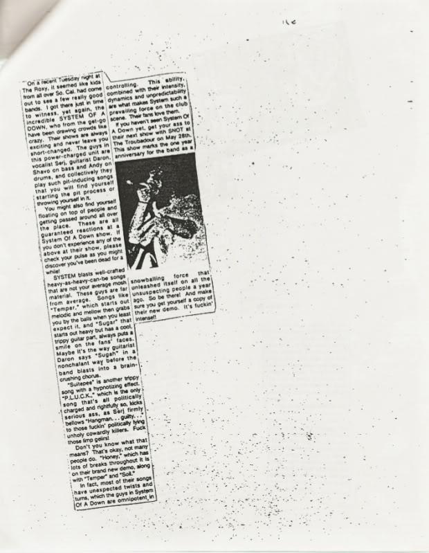 Интервью с первым ударником System Of A Down Andy Khachaturian SOAD_RockCIty9