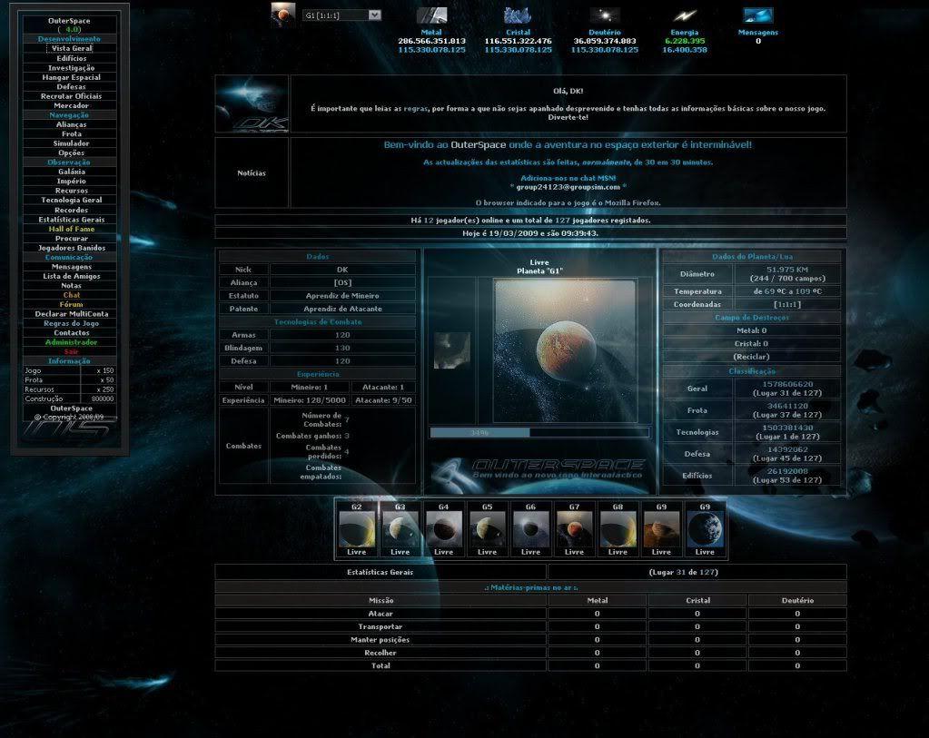 Sobre evolução de OuterSpace® OS_V40