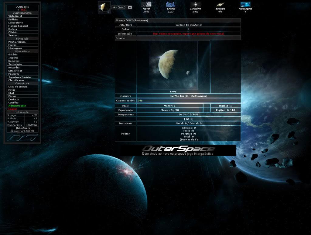 Sobre evolução de OuterSpace® OuterSpace