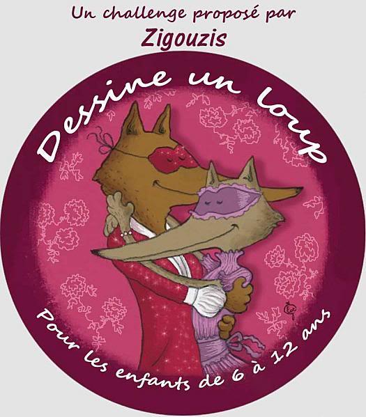 Vos enfants au travail : Dessinez un loup Dessine-un-loup---Zigouzis---Eve-Grosset
