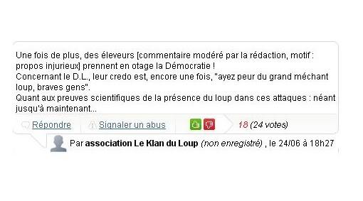 L'actualité du loup en France Censure_dl1