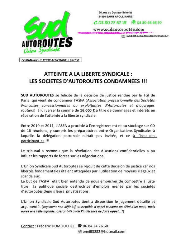 Communiqué de presse SUD Autoroutes mai 2015 Communiqueacute%20SUD%20AUTOROUTES_zpsdgbkqyrg
