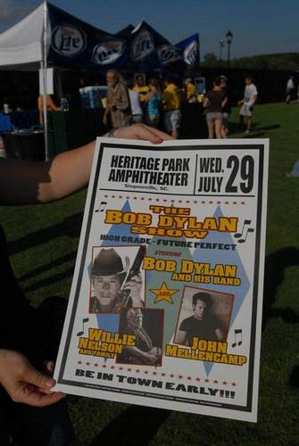 My Birthday present (me at the Bob Dylan concert) Bobpostere