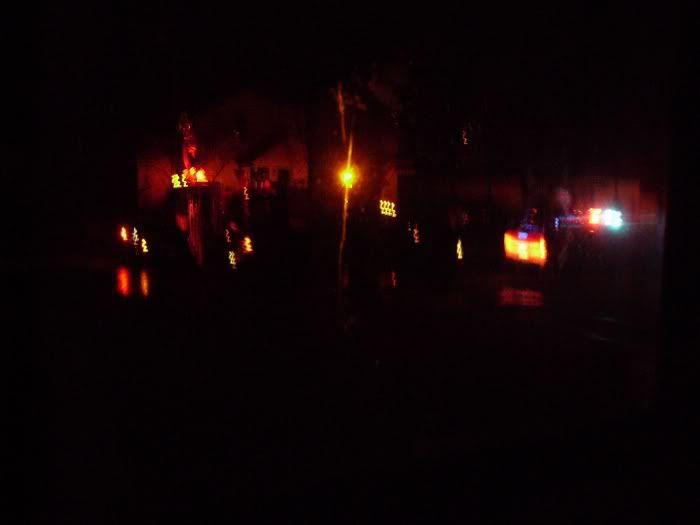 My street.  At night. Lolfire