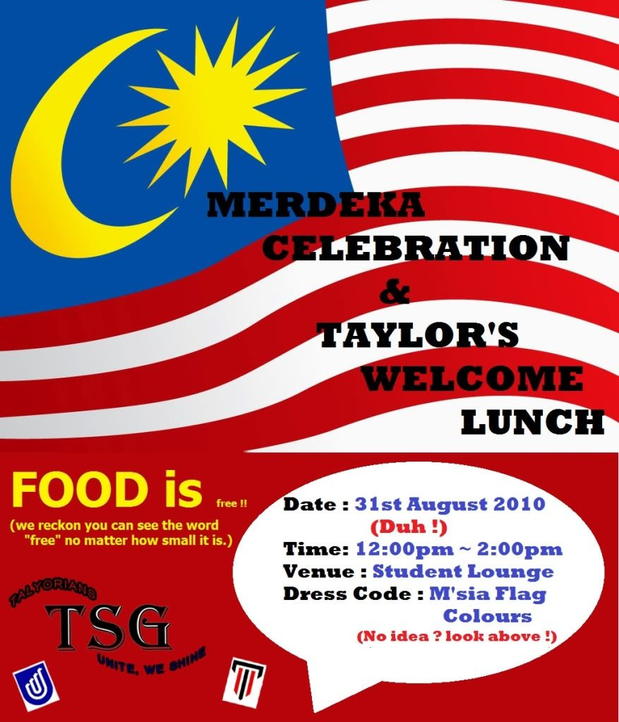 SP5/2010 Welcome Lunch and Merdeka Celebration PosterFinal