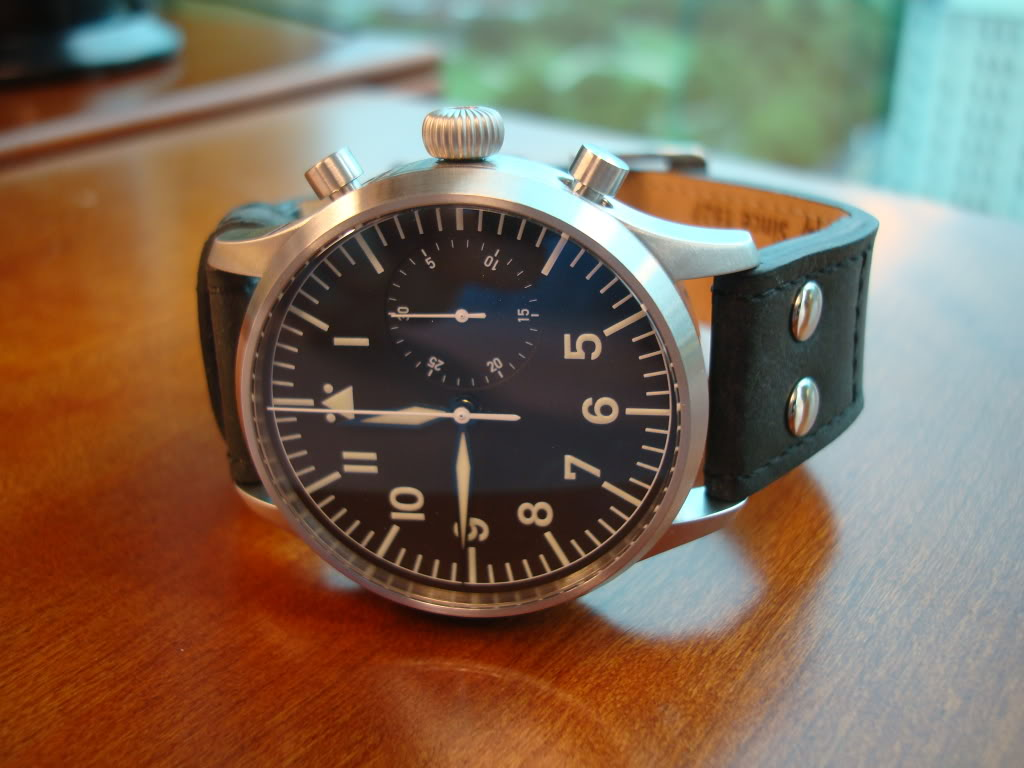 A German came to visit today ... Stowa Flieger Chronograph! DSC00649