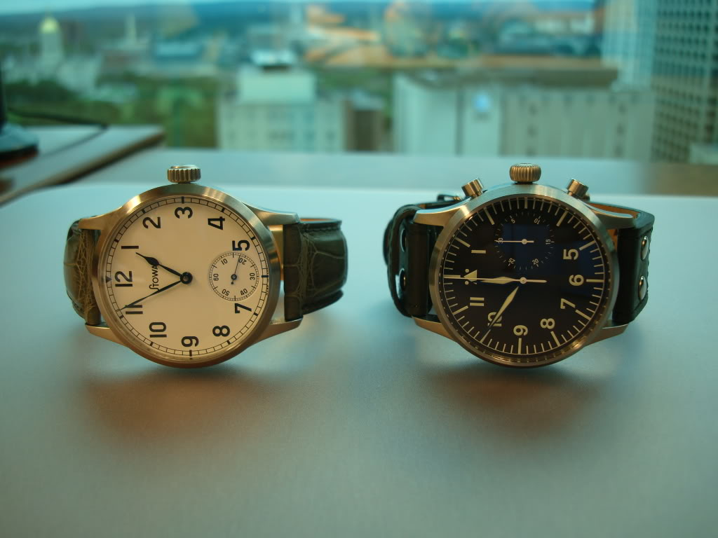 A German came to visit today ... Stowa Flieger Chronograph! DSC00654