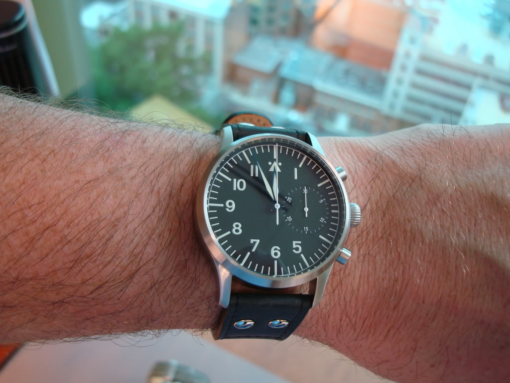 A German came to visit today ... Stowa Flieger Chronograph! DSC00668