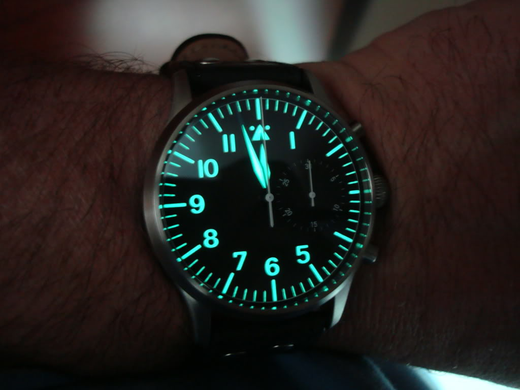 A German came to visit today ... Stowa Flieger Chronograph! DSC00669-1