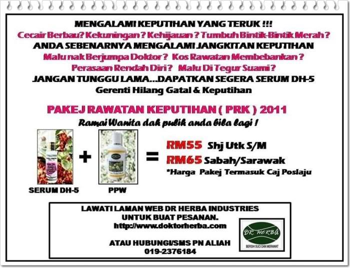 Rawatan Keputihan 100% Herba Paling Berkesan & Murah PRK2011