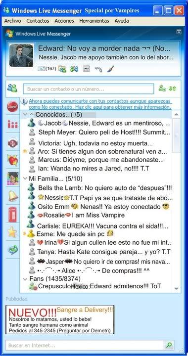 El MSN del EMO Cullen 28196407926837592368920