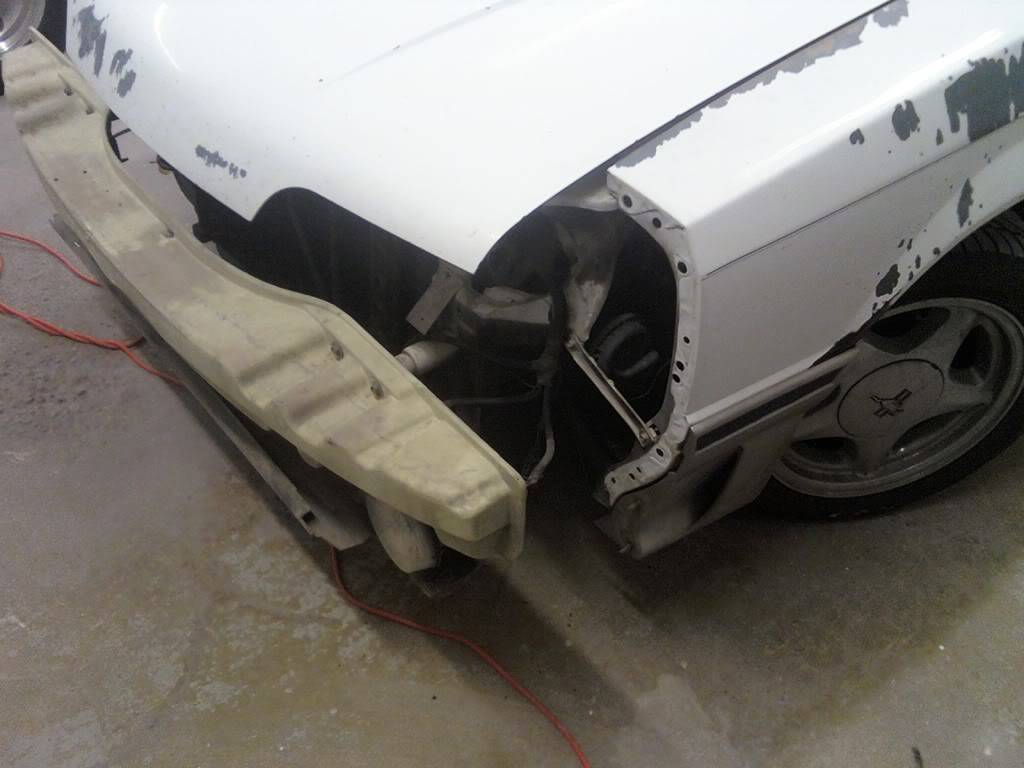 My Oxford White 1989 Mustang GT FrontBumperoff6FT
