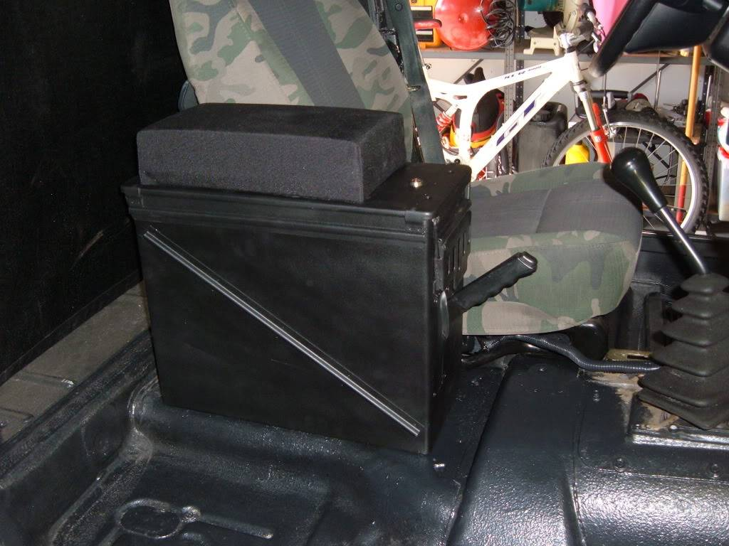 Ammo Can Cosole Installed
