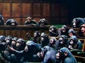 How apropos: Banksy painting of Parliament as monkeys sells for record sum amid Brexit drama 538banksymonkeyparliamentcanvasp-1