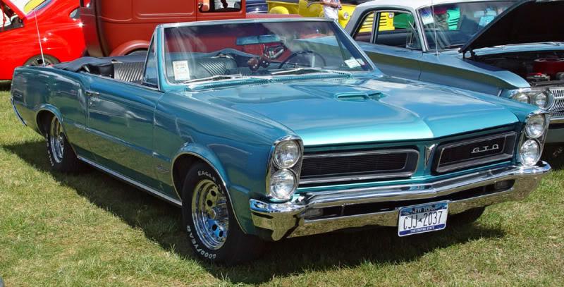 Muscle Cars na veia 1965-Pontiac-GTO-Aqua-Convt-sy