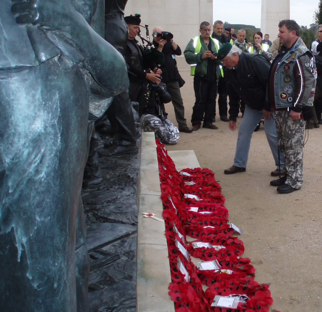 Ride To The Wall 2010 - One of my journeys. Central UK Layingthewreath
