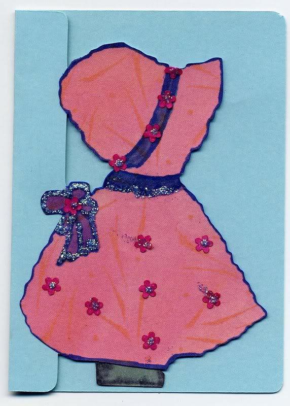 Petite carte découpée avec Cricut Pouperose