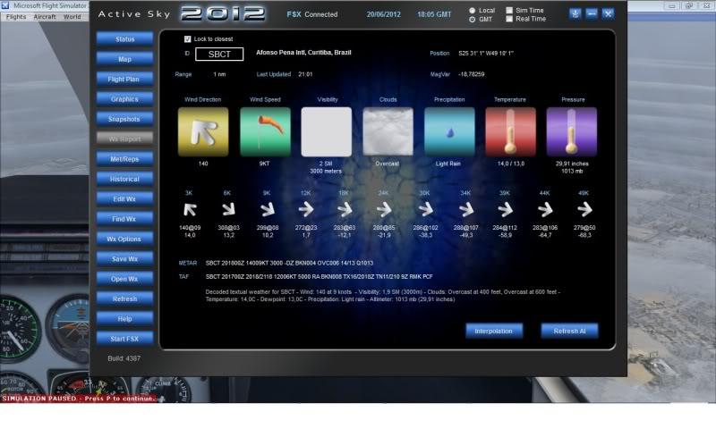 Active Sky 2012 e a geração de camadas ReporteASE