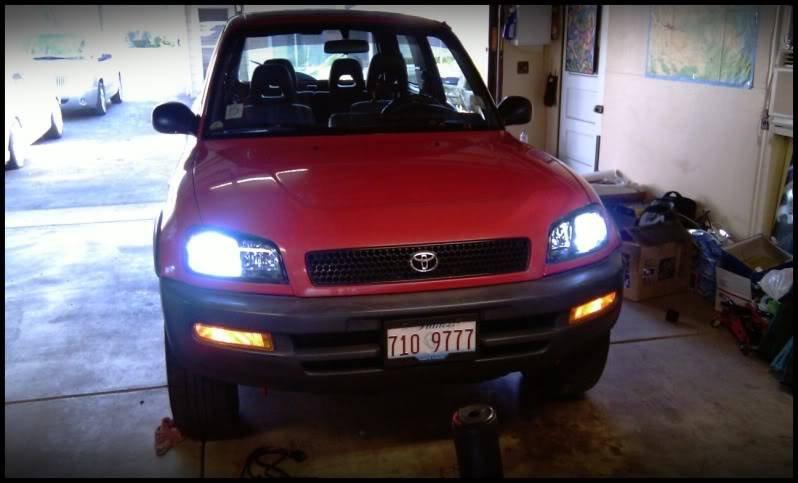 Spare Car Upgrade:  Its a RAV4, now with HIDs. IMAG0258